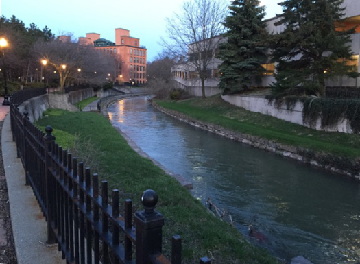 Image: creek at Franklin Square